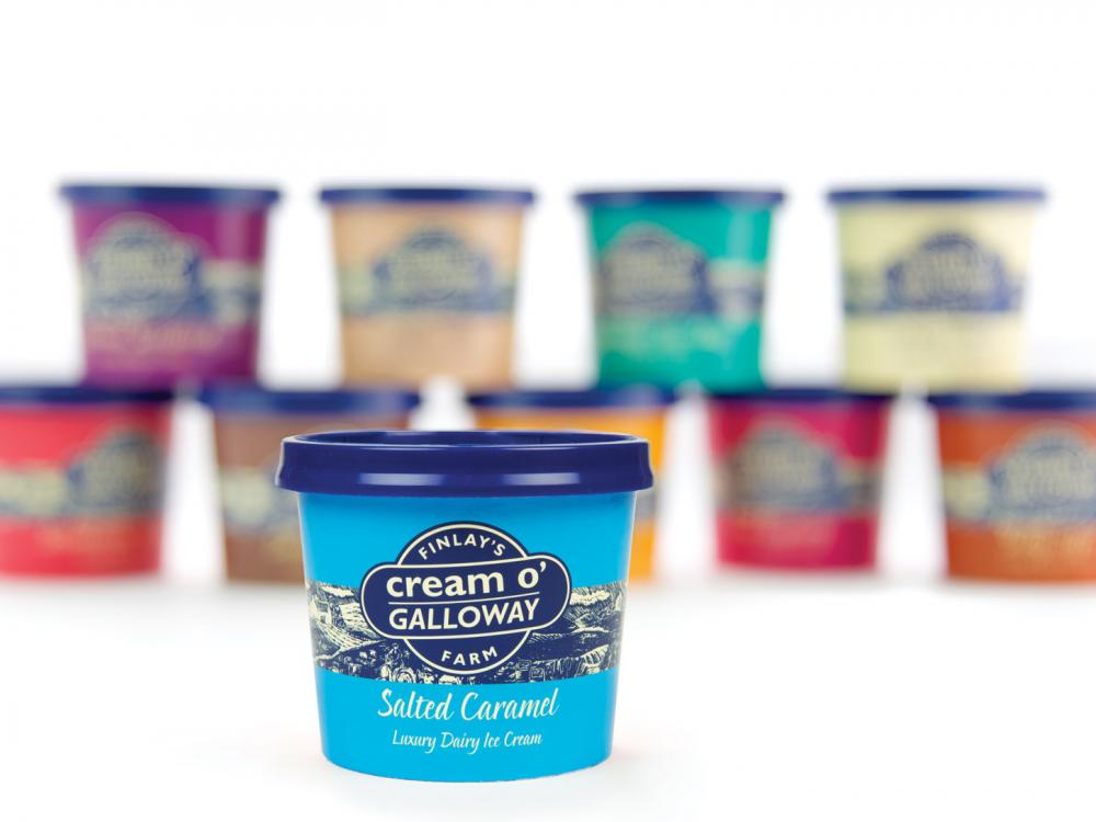 cream o galloway ice cream tubs